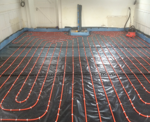 multizone warm water underfloor heating system