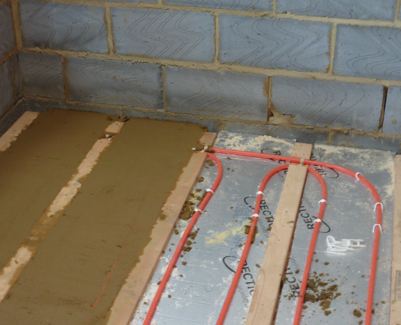 underfloor heating construction